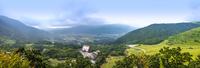 湯布院 狭霧台からの眺めパノラマ