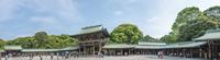明治神宮・御社殿の内側より入口側-パノラマ
