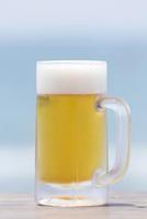 ビーチと生ビール