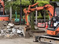 道路の補修工事 10511004704| 写真素材・ストックフォト・画像・イラスト素材|アマナイメージズ