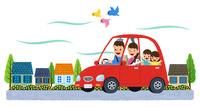 車で家族でお出掛け 10514000075| 写真素材・ストックフォト・画像・イラスト素材|アマナイメージズ