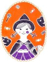 カレンダー 10月 ハロウィンの女の子
