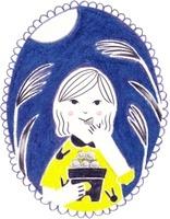 カレンダー 9月 お月見する女の子