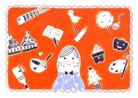 カレンダー 表紙 季節の風物と女の子