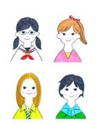様々なタイプの10代の女の子4人