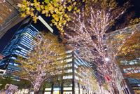 東京,丸の内の夜景 10517000483  写真素材・ストックフォト・画像・イラスト素材 アマナイメージズ