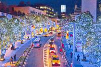 六本木けやき坂通りのイルミネーション 10517000594  写真素材・ストックフォト・画像・イラスト素材 アマナイメージズ