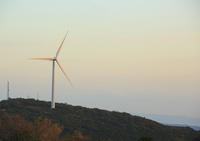 夕暮れの風車 10521002990| 写真素材・ストックフォト・画像・イラスト素材|アマナイメージズ