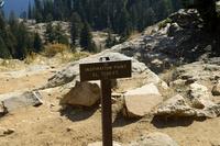 グランドティトン国立公園のジェニーレイクのインスピレーションポイントの標識