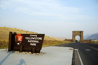 イエローストーン国立公園のルーズベルトカントリーの公園標識