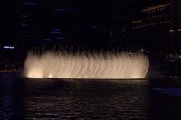 ラスベガスのホテルの夜の噴水ショー