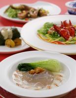 中華料理 フカヒレとエビとチンゲンサイ