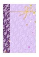 紫色の背景に金色の水引 10536000019| 写真素材・ストックフォト・画像・イラスト素材|アマナイメージズ