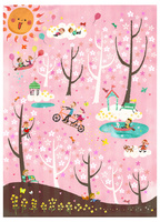 桜のトンネルの散歩道