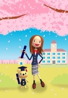 桜 卒業式のイメージ