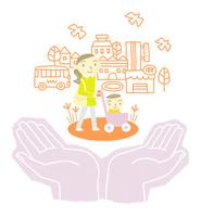 赤ちゃん連れの外出をサポート 10559000061| 写真素材・ストックフォト・画像・イラスト素材|アマナイメージズ