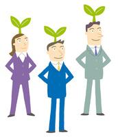 芽が出るビジネスマンたち