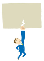 重圧を打ち砕くビジネスマン 10559000077| 写真素材・ストックフォト・画像・イラスト素材|アマナイメージズ