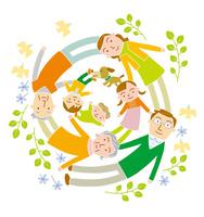 円満家族 10559000123| 写真素材・ストックフォト・画像・イラスト素材|アマナイメージズ