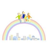 虹に乗る家族