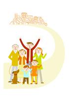住みやすい町に向かう家族