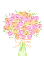笑顔の花束 10559000158| 写真素材・ストックフォト・画像・イラスト素材|アマナイメージズ