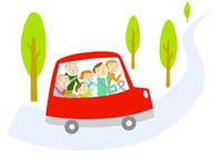 家族でドライブ 10559000161| 写真素材・ストックフォト・画像・イラスト素材|アマナイメージズ