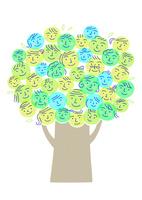 笑顔の木 10559000171| 写真素材・ストックフォト・画像・イラスト素材|アマナイメージズ