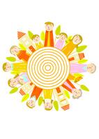 家族は太陽 10559000173| 写真素材・ストックフォト・画像・イラスト素材|アマナイメージズ