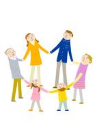 家族の輪 10559000174| 写真素材・ストックフォト・画像・イラスト素材|アマナイメージズ