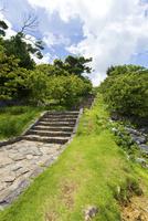 今帰仁城跡、七五三の階段