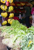 リトルインディア、香草とバナナ