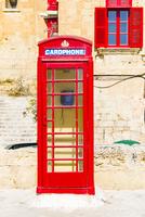 世界遺産ヴァレッタ,真っ赤な電話ボックス