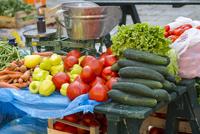 ドブロブニク青空市場の新鮮野菜
