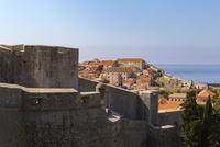 城壁から望むアドリア海