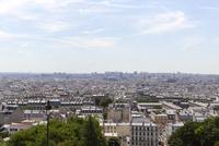モンマルトルの丘から望むパリ
