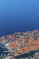 山上から望む旧港と総督邸
