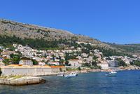 ドブロブニク、旧港から望むアドリア海