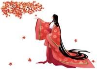 平安時代の女性 秋 10587000001| 写真素材・ストックフォト・画像・イラスト素材|アマナイメージズ