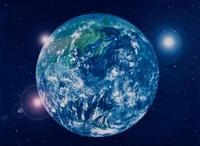 CG  地球と光と宇宙                                           10596000026| 写真素材・ストックフォト・画像・イラスト素材|アマナイメージズ