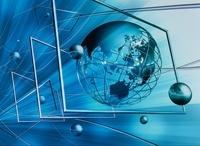 地球と球体 ネットワークイメージ CG