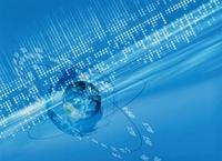グローバルネットワークイメージ(青) CG                     10596000134| 写真素材・ストックフォト・画像・イラスト素材|アマナイメージズ
