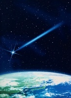 地球と流れ星のイメージ                                       10596000177| 写真素材・ストックフォト・画像・イラスト素材|アマナイメージズ