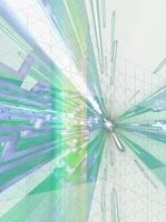 升目から飛び出す放射状の線 CG