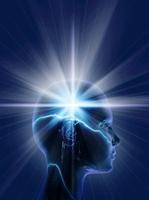 人物の頭の中の光 CG