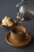 サイフォンコーヒーとスコーン