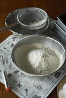 ふるった小麦粉