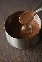 溶かしたチョコレート