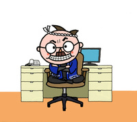 怒る親方、職人、オヤジ、生粋の江戸っ子 10607000039| 写真素材・ストックフォト・画像・イラスト素材|アマナイメージズ