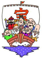 宝船にのる七福神  10607000077| 写真素材・ストックフォト・画像・イラスト素材|アマナイメージズ